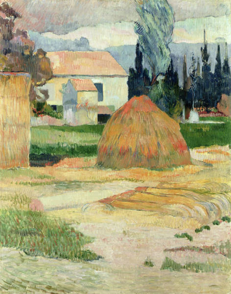 Painting - Landscape Near Arles by Paul Gauguin