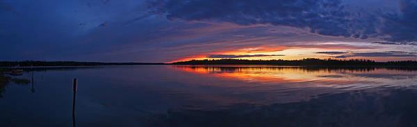 Languid Sunset Lake Nakamun Art Print