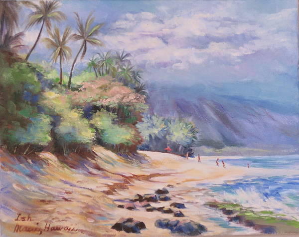 Ish Wall Art - Painting - Laniakea Or Turtle Beach by Ish Trono