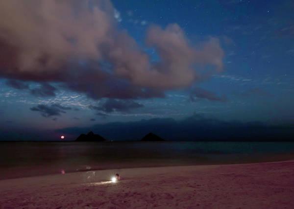 Photograph - Lanikai Full Moonrise by Dan McManus