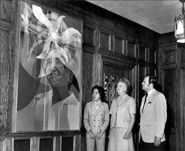 Painting - Laskey Portrait Unveiling 1972 by Glenn Bautista
