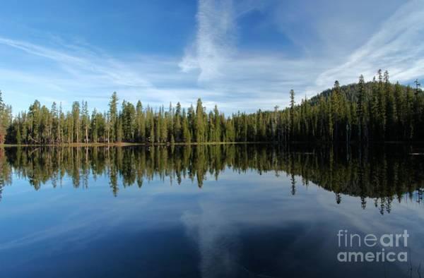 Photograph - Lassen Summit Lake Reflections by Adam Jewell