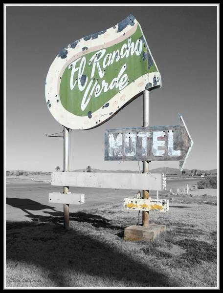 Blythe Photograph - Last Chance Motel by Glenn McCarthy Art and Photography