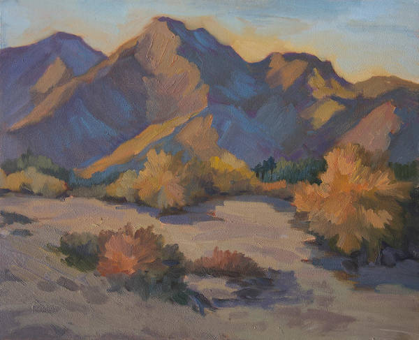 Shadow And Light Painting - Late Afternoon Light In La Quinta Cove by Diane McClary