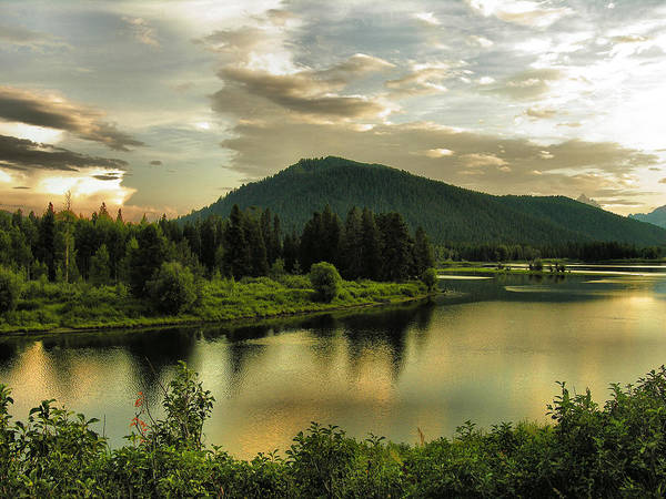 Bow River Wall Art - Photograph - Late Afternoon On The Snake River  by Steven Ainsworth