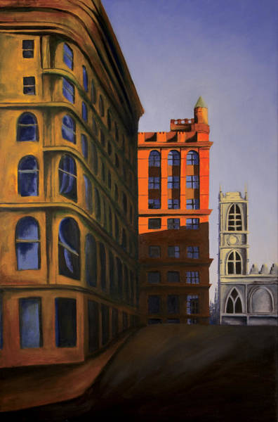 Old Montreal Painting - Late Afternoon Sun by Duane Gordon