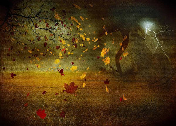 Tornado Digital Art - Late October by Svetlana Sewell