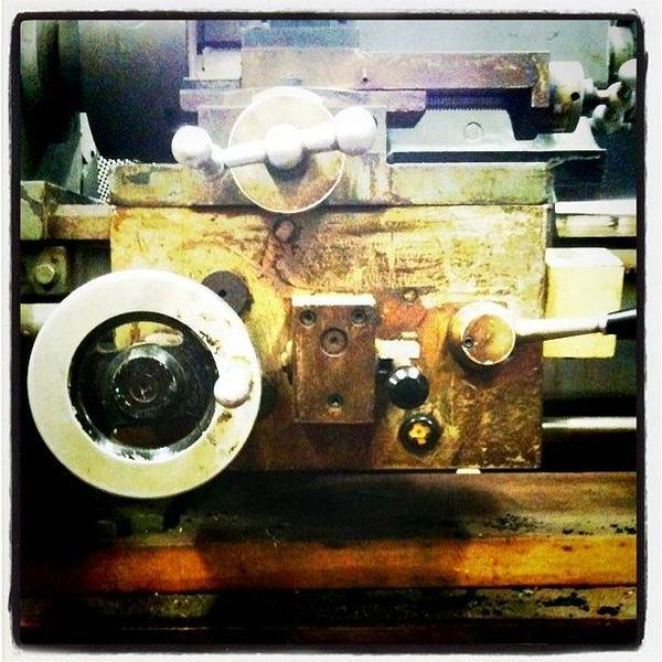 Power Wall Art - Photograph - Lathe by Ken Powers
