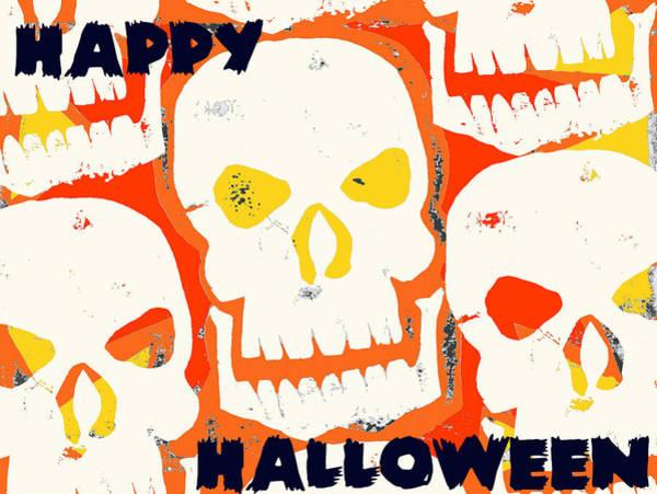 Ghoul Digital Art - Laughing Skull by Jame Hayes