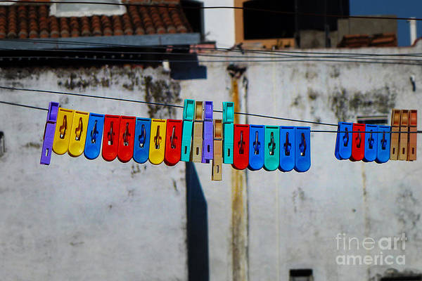 Photograph - Laundry Clips by Xueling Zou