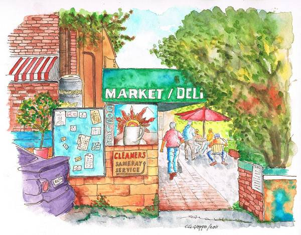 Deli Wall Art - Painting - Laurel Canyon Market And Deli In Laurel Canyon, Hollywood Hills, California by Carlos G Groppa