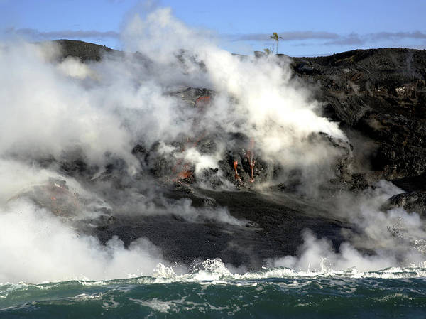 Photograph - Lava Flow Hawaii by Tony and Kristi Middleton