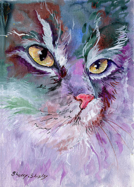 Painting - Lavender And Gold by Sherry Shipley