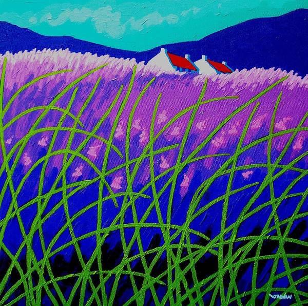 Violet Painting - Lavender Hill by John  Nolan