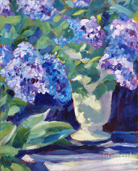 Painting - Lavender Hydrangeas by David Lloyd Glover