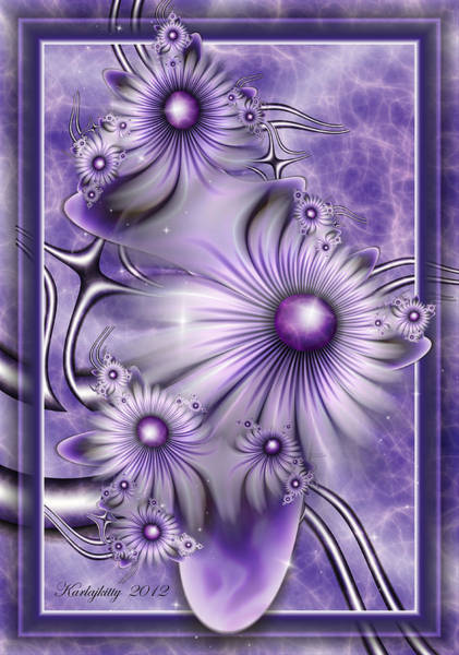 Digital Art - Lavender Lights by Karla White