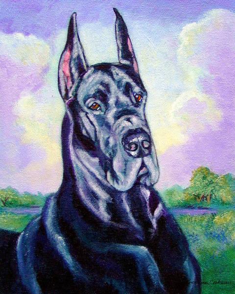 Great Dane Painting - Lavender Skies - Great Dane by Lyn Cook