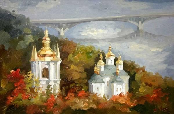 Follow Me Painting - Lavra. Kiev by Anna Sokol