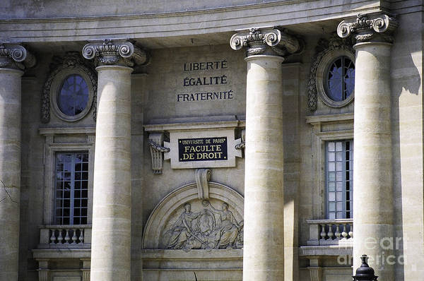 Photograph - Law Faculty Paris by Donna L Munro