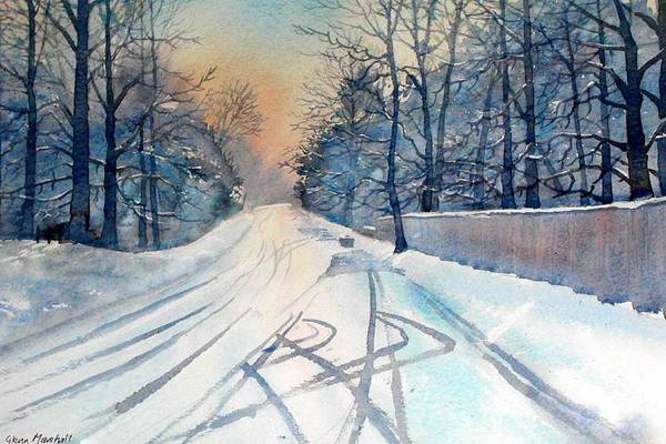 Layby In The Snow Art Print