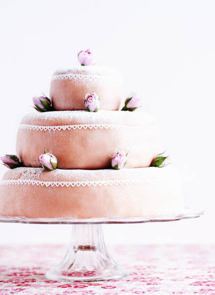 Vertical Line Photograph - Layer Cake With Marzipan by Cultura/Line Klein