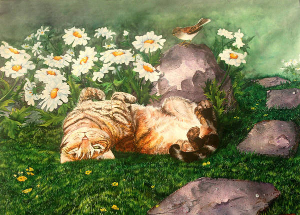 Painting - Lazy Daisy Afternoon by Sherry Shipley