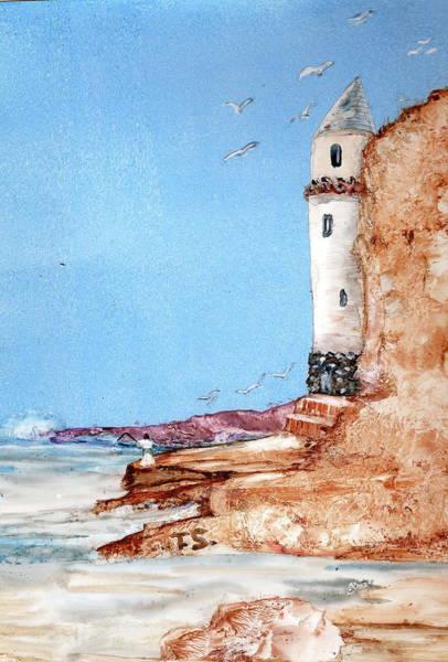 Laguna Beach Painting - Le Teur by Terry Sussman