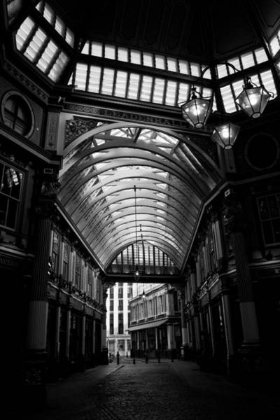 Wall Art - Photograph - Leadenhall Market Black And White by David Pyatt