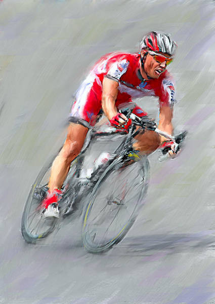 Wall Art - Digital Art - Leader Of Bike Ride by Yury Malkov