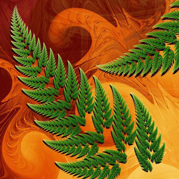 Wall Art - Digital Art - Leaftips In Forest by Pam Blackstone