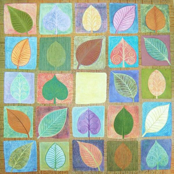 Wall Art - Painting - Leafy Squares by Jennifer Baird