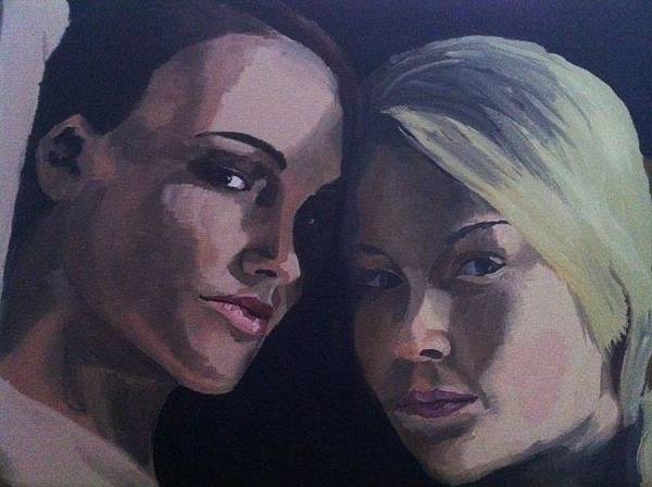 Painting - Leah And Tiffany by Stephen Panoushek
