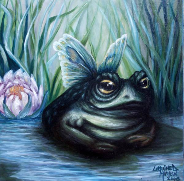 Wall Art - Painting - Leah's Butterfrog by Lorraine Davis Martin