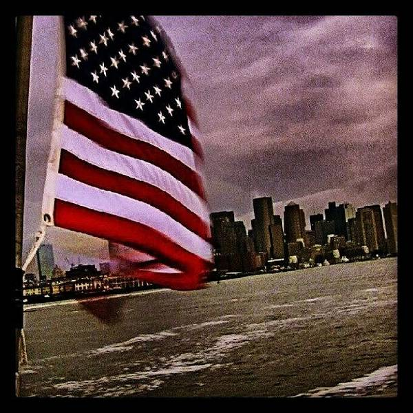 Run Photograph - Leaving Boston Harbor, Columbia And by Hit And Run History