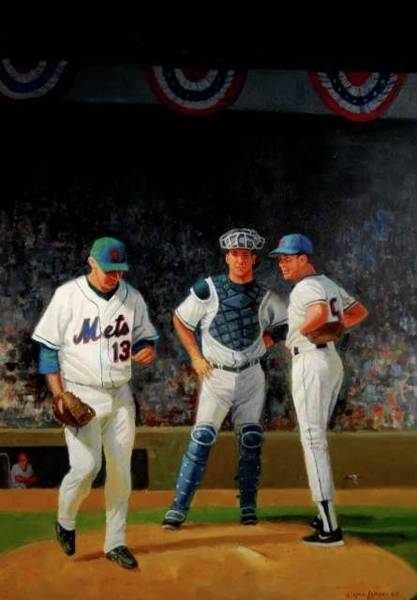 Painting - Leaving The Mound by Mel Greifinger