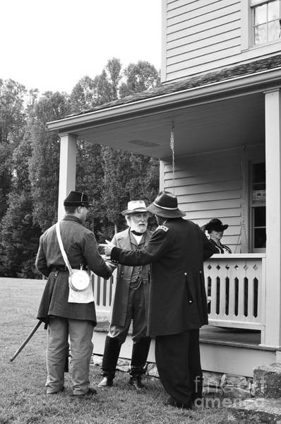 Re-enactment Wall Art - Photograph - Lee And Grant by Thomas R Fletcher