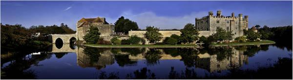 Moat Photograph - Leeds Castle Reflected by Nigel Jones