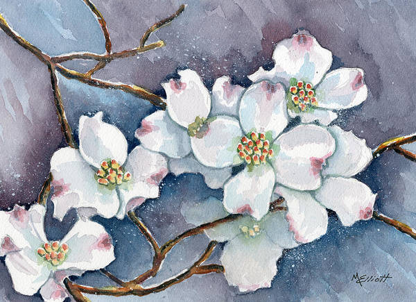 Dogwood Painting - Legend Of The Dogwood by Marsha Elliott