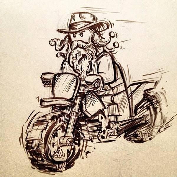 Brush Wall Art - Photograph - #lego #blackbeard #riding #motorcycle by Jeff Reinhardt