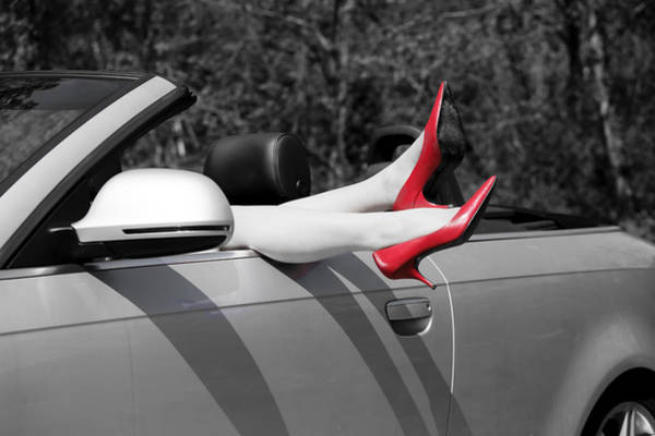 Car Part Photograph - Legs In A Convertible by Joana Kruse