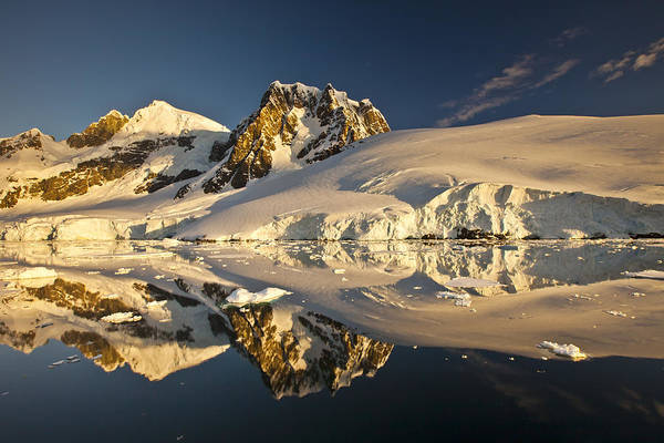 Photograph - Lemaire Channel At Sunset Antarctic by Colin Monteath