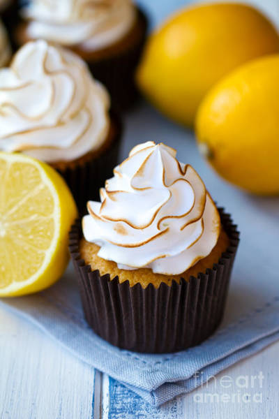 Wall Art - Photograph - Lemon Meringue Cupcakes by Ruth Black