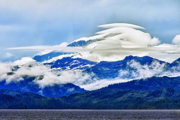 Glacier Bay Photograph - Lenticular And The Chugach Mountains by Rick Berk