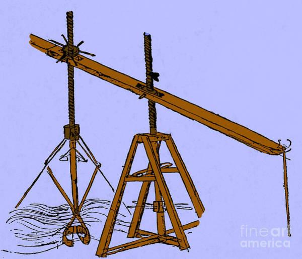 Wall Art - Photograph - Leonardo Da Vincis Dredge Machine by Science Source