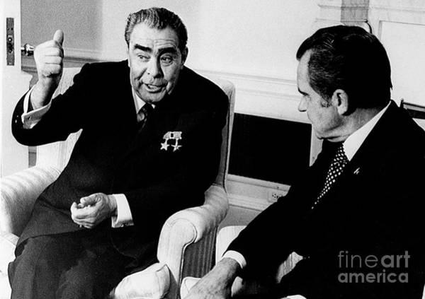 Photograph - Leonid Brezhnev by Granger
