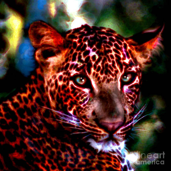 Painting - Leopard Portrait by Elinor Mavor