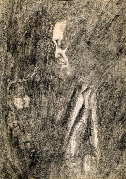 Sax Drawing - Lester Young by Mel Thompson