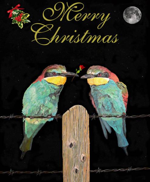 Sculpture - Lesvos Christmas Birds by Eric Kempson