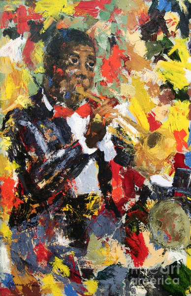 Scumble Wall Art - Painting - Let There Be Jazz by Roseanne Marie Peters