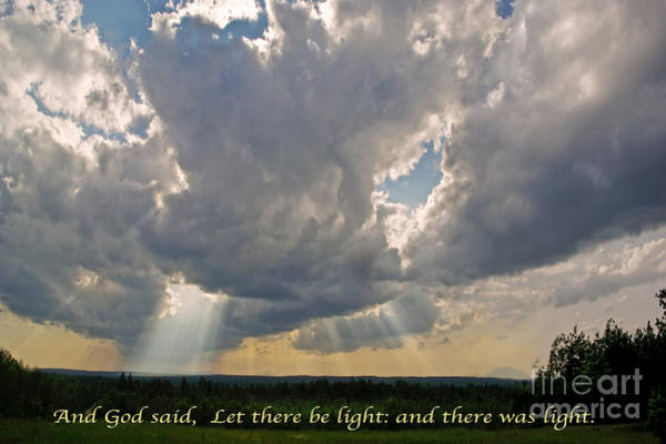 Bible Quotes Photograph - Let There Be Light by John Stephens